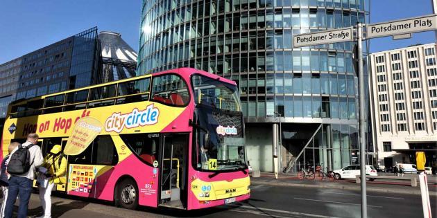 City Circle Bus am Potsdamer Platz